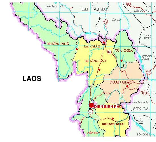 Dien Bien Phu Vietnam Map.Map Dien Bien Phu Battlefield Vietnam Download