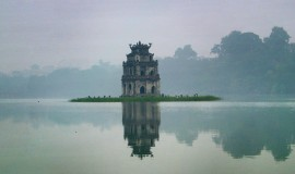 Turtle Tower has become a symbol of a part of Hanoi soul
