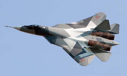 Một nguyên mẫu tiêm kích tàng hình T-50 của Nga. Ảnh: Wikipedia