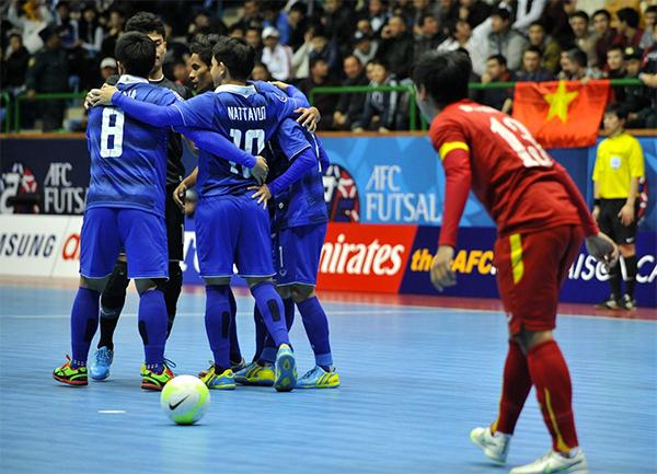 Thái Lan ở một đẳng cấp cao hơn hẳn so với futsal Việt Nam. Ảnh: AFC.