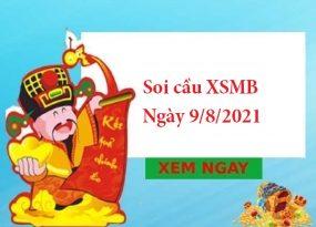 Soi cầu XSMB 9/8/2021